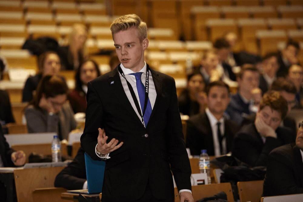MUN Delegate speaking